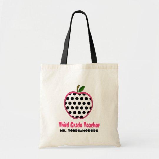 3 grad lehrer tasche tupfen apple tragetasche zazzle. Black Bedroom Furniture Sets. Home Design Ideas