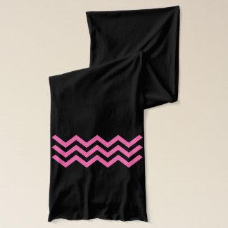 3 heißes Rosa-Zickzacke (Zickzack oder aztekisches Schal