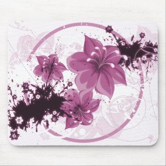 3 hübsche Blumen - Rosa Mousepads
