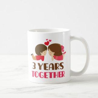 3. Jahrestags-Geschenk für sie Kaffeetasse