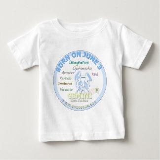 3. Juni Geburtstag - Zwillinge Baby T-shirt