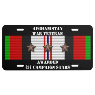 3 KAMPAGNEN-STERN-AFGHANISTAN-KRIEGSVETERAN US NUMMERNSCHILD