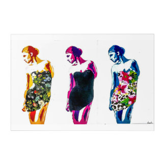 3 Kleider Acryl Wandkunst