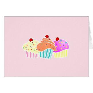 3 kleine Kuchen notecard Karte