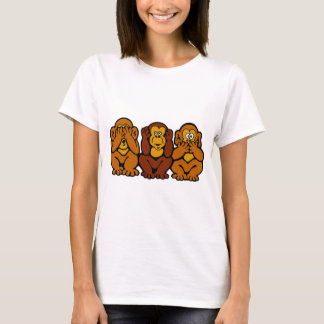 3 kleiner Affe-T - Shirt