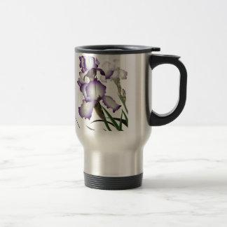 3 lila Iris Reisebecher