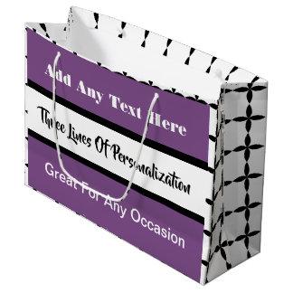3 Linien Kundenbezogenheit Multi-Gelegenheit Rosa Große Geschenktüte