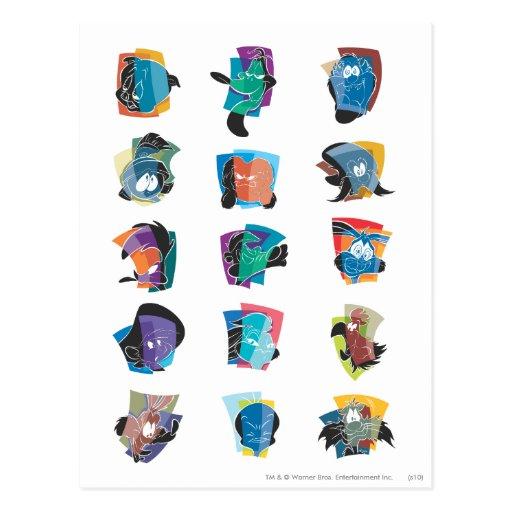 # 3 Looney Melodien-Foto OP Postkarte