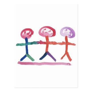 3 Menschen Postkarten