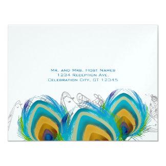 3 musikalische Pfau-Federn UAWG Postkarte Karte
