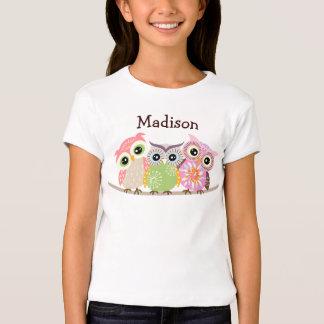 3 niedliches und buntes Eulen-Baby - Puppe T-Shirts