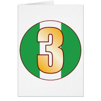 3 NIGERIA Gold Karte