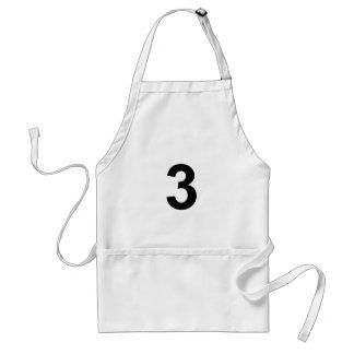 3 - Nr. drei Schürze