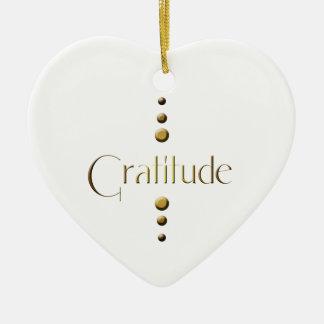 3 Punkt-Goldblock-Dankbarkeit Keramik Ornament
