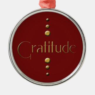 3 Punkt-Goldblock-Dankbarkeit u. Silbernes Ornament