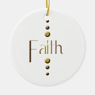 3 Punkt-Goldblock-Glaube Keramik Ornament
