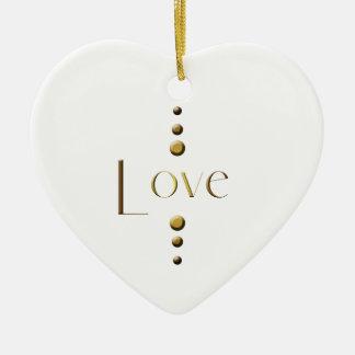 3 Punkt-Goldblock-Liebe Keramik Ornament