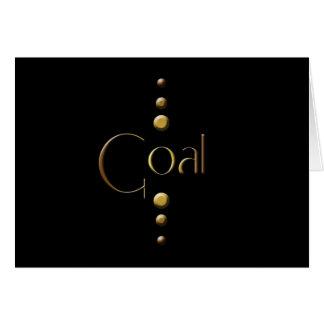 3 Punkt-Goldblock-Ziel u. schwarzer Hintergrund Karte