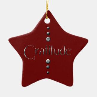 3 Punkt-silberne Block-Dankbarkeit u. Keramik Ornament