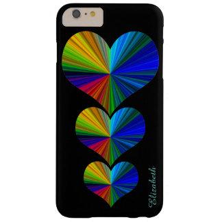 3 Regenbogen-Herzen Barely There iPhone 6 Plus Hülle