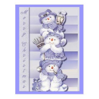 3 Schneemänner - Postkarte
