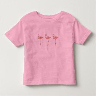 3 Spaß-rosa Flamingos in Folge Kleinkinder T-shirt