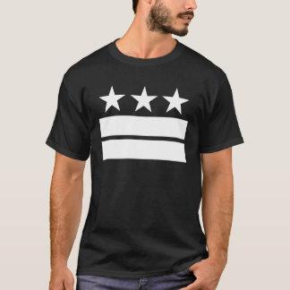 3 Sterne 2 Stangen schwärzen T - Shirt