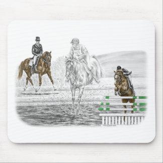 3-tägige Eventing Pferdekombiniertes Training Mauspad