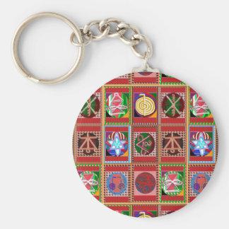 3 Verkauf Karuna Reiki heilende Symbol-Kunst Schlüsselanhänger