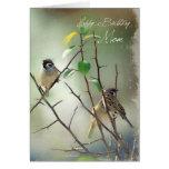 3 Vogel-Geburtstags-Karte für Mamma