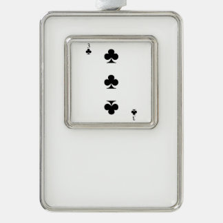 3 von Vereinen Rahmen-Ornament Silber