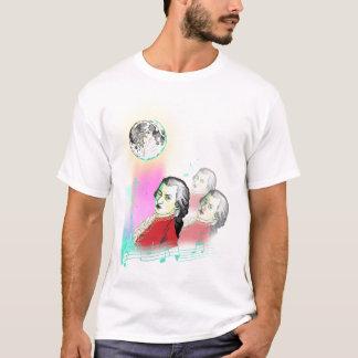 3 Wolfgang Amadeus Mozarts und Mond T-Shirt