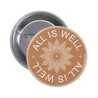 3 Wort-Zitate ~All ist wohles ~Inspirational Runder Button 5,1 Cm