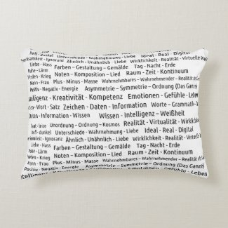 3 Worte sagen alles Accent Pillow