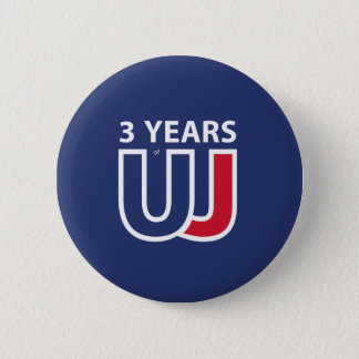 3 Years Of Union J ack Runder Button 5,1 Cm