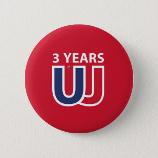 3 Years of Union Jack Runder Button 5,7 Cm