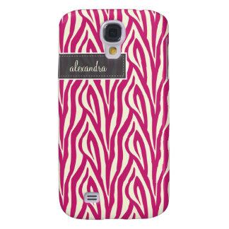 3 Zebra Pern (Fuchsie) Galaxy S4 Hülle