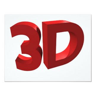 3D 10,8 X 14 CM EINLADUNGSKARTE