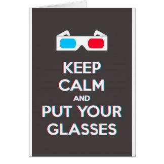 3D behalten Ruhe und setzen Sie Gläser an Karte