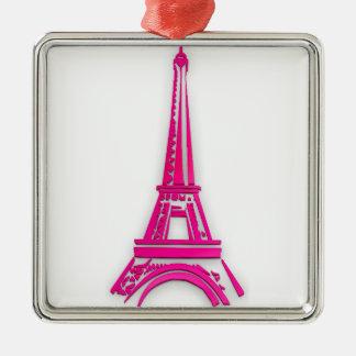 3d Eiffelturm, Frankreich clipart Silbernes Ornament