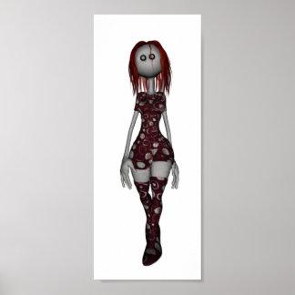 3D Freaky Bonga Puppe - Redhead Poster