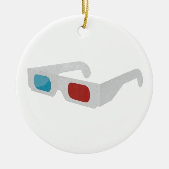 3d glasses rundes keramik ornament
