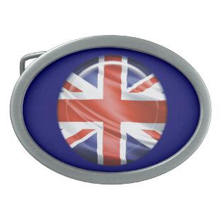 3D Großbritannien Flagge Ovale Gürtelschnalle