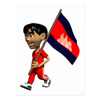 3D Kambodscha Postkarte
