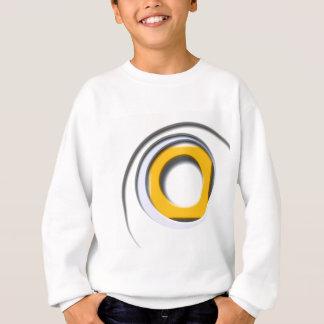 3D, kreisförmige Formen erniedrigt gelb Sweatshirt