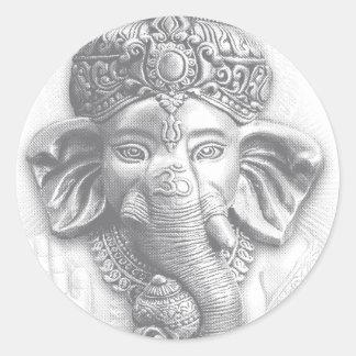 3d Lord Ganesha - OM Runder Aufkleber