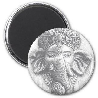 3d Lord Ganesha - OM Runder Magnet 5,1 Cm