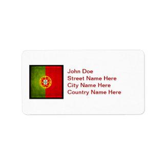 3D Portugal Flagge Adressaufkleber