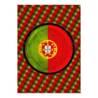 3D Portugal Flagge Karte