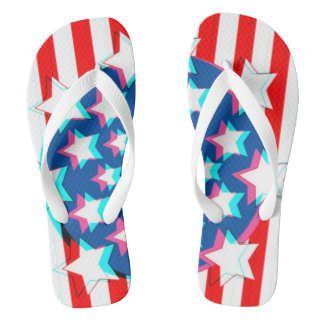 3D USA Flaggen-Party-amerikanischer Flip Flops